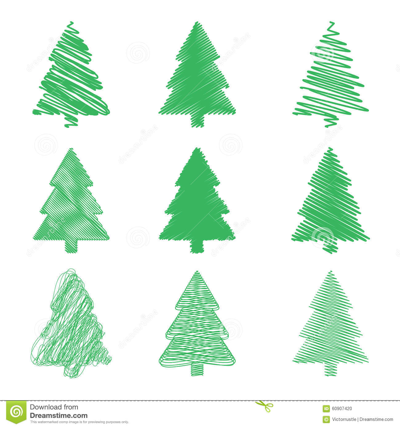 Vector Modern Abstract Christmas Tree Background Stock Vector ...