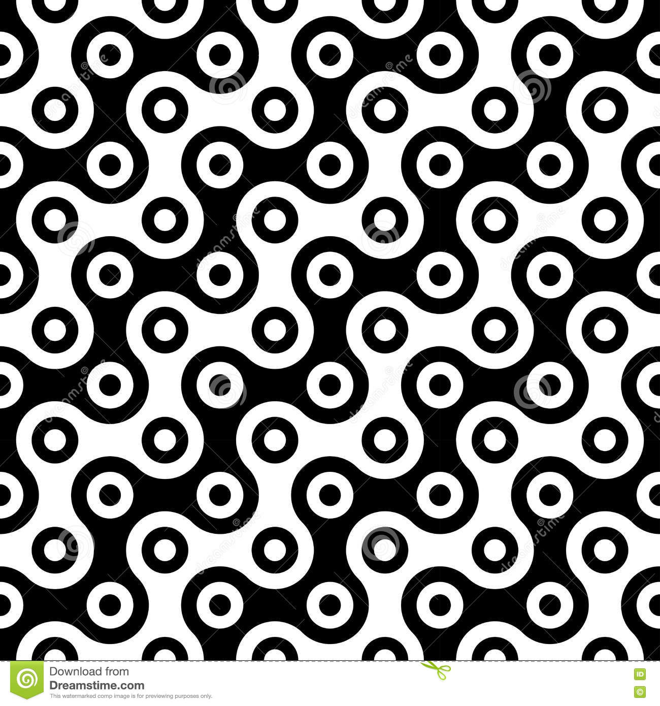 Black bed sheets pattern - Vector Modern Abstract Geometry Circles Pattern Black And White Seamless Geometric Background