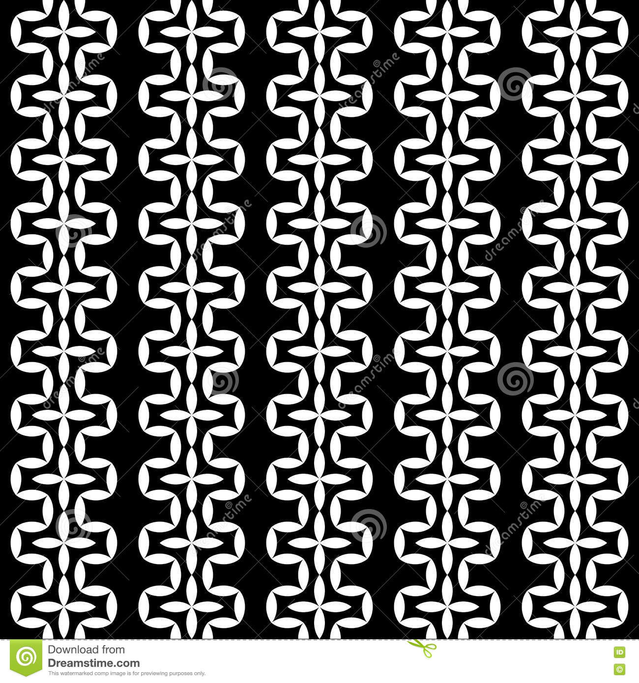 Black bed sheets pattern - Vector Modern Abstract Geometry Floral Pattern