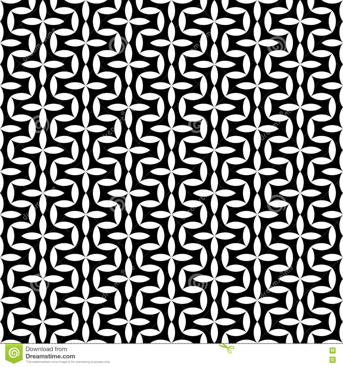 Black bed sheets pattern - Vector Modern Abstract Geometry Floral Pattern Black And White Seamless Geometric Background