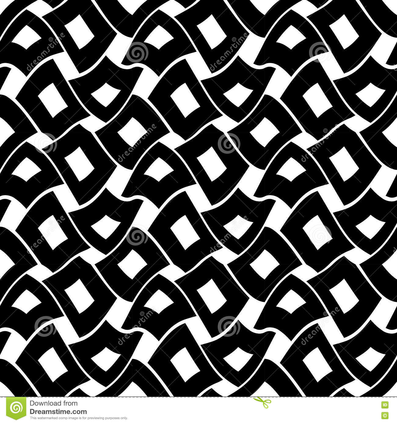 Black bed sheets pattern - Vector Modern Abstract Geometry Squares Pattern Black And White Seamless Geometric Background