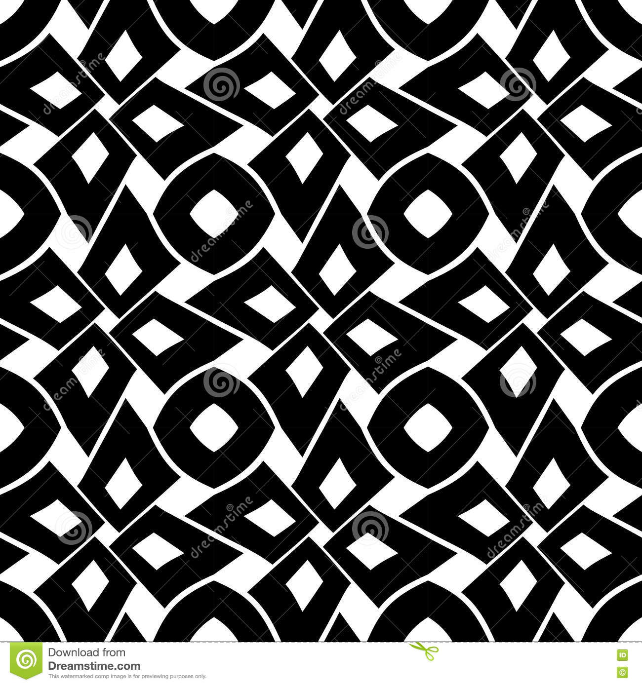 Modern bed sheets pattern - Black Bed Sheets Pattern Royalty Free Vector