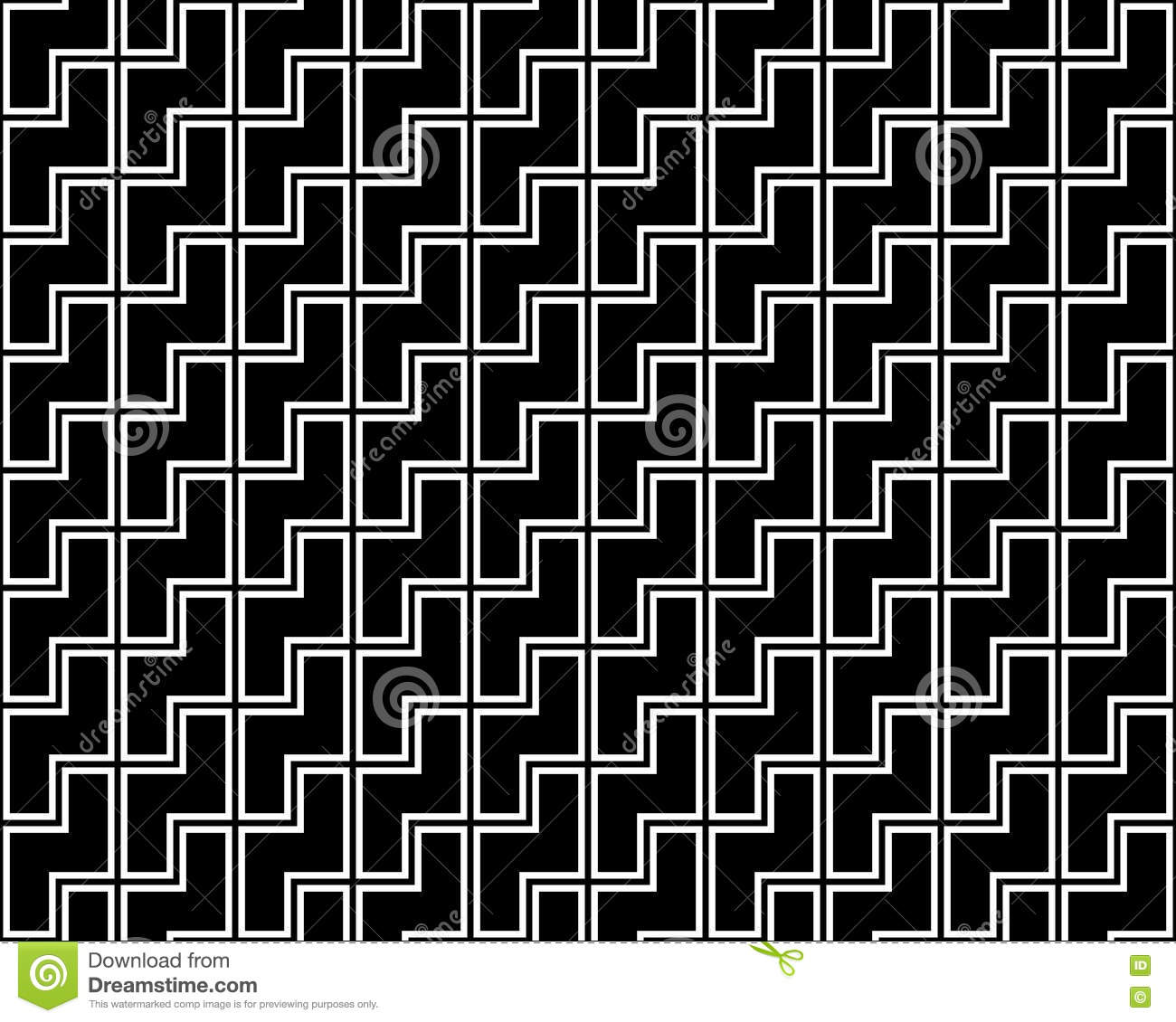 Black bed sheet texture seamless - Vector Modern Abstract Geometry Tetris Pattern Black And White Seamless Geometric Background Stock Vector