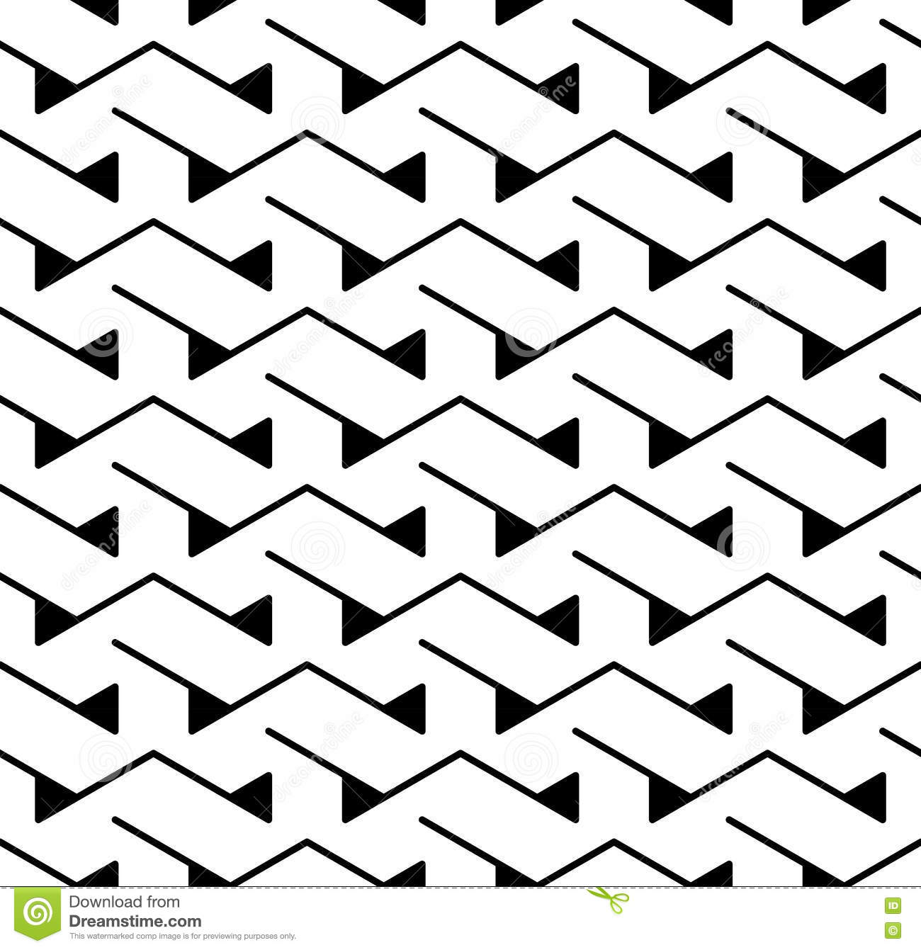Black bed sheets pattern - Vector Modern Abstract Geometry Triangle Pattern Black And White Seamless Geometric Background