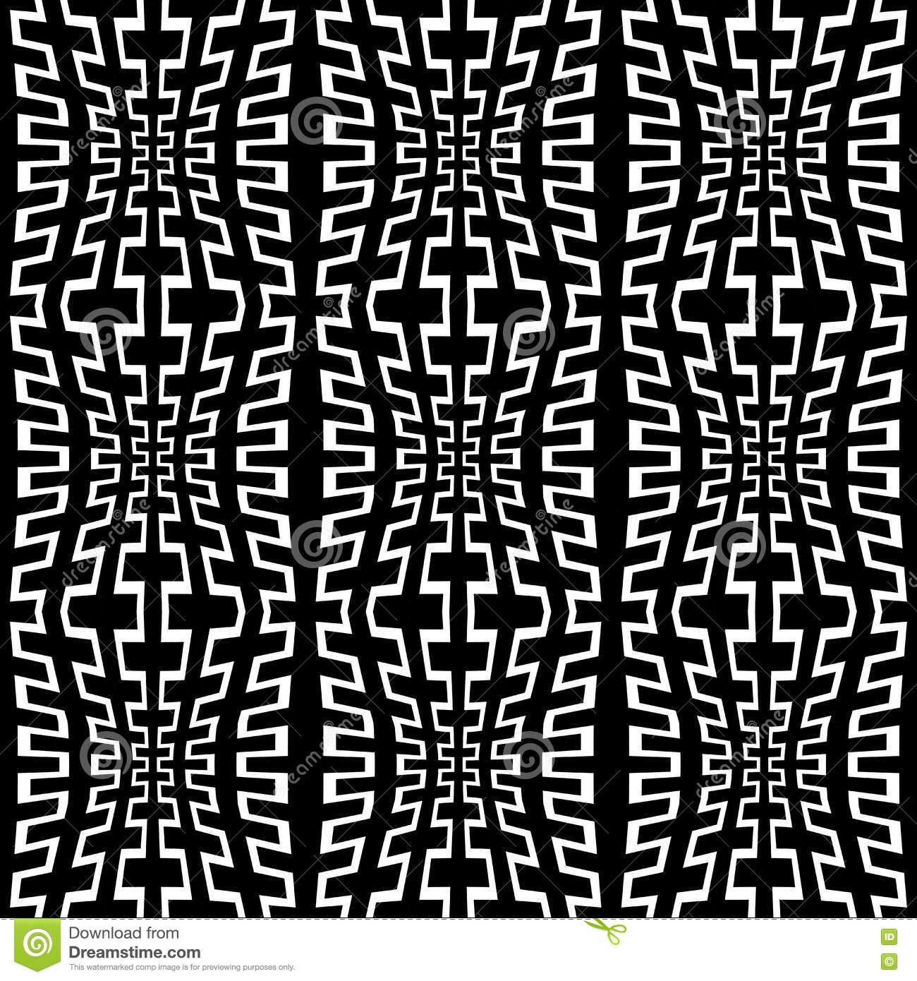 Black bed sheets pattern - Vector Modern Abstract Geometry Trippy Pattern Black And White Seamless Geometric Background