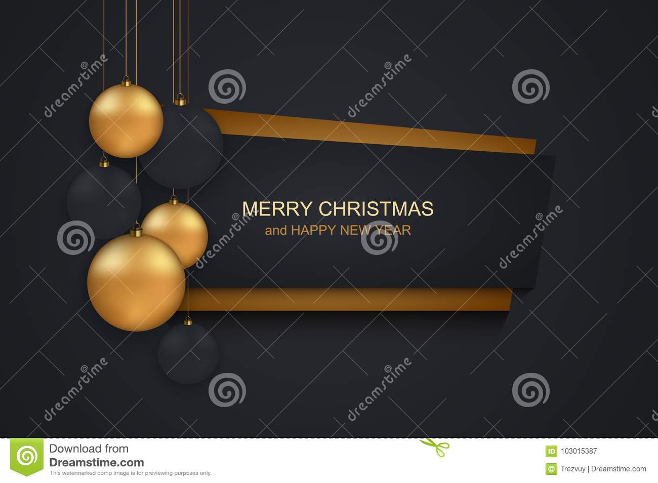 vector modern christmas or 2018 happy new year winter holiday invitation card