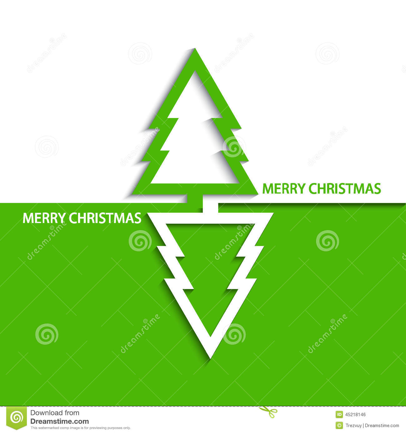 Vector Modern Christmas Tree Stock Vector - Image: 45218146