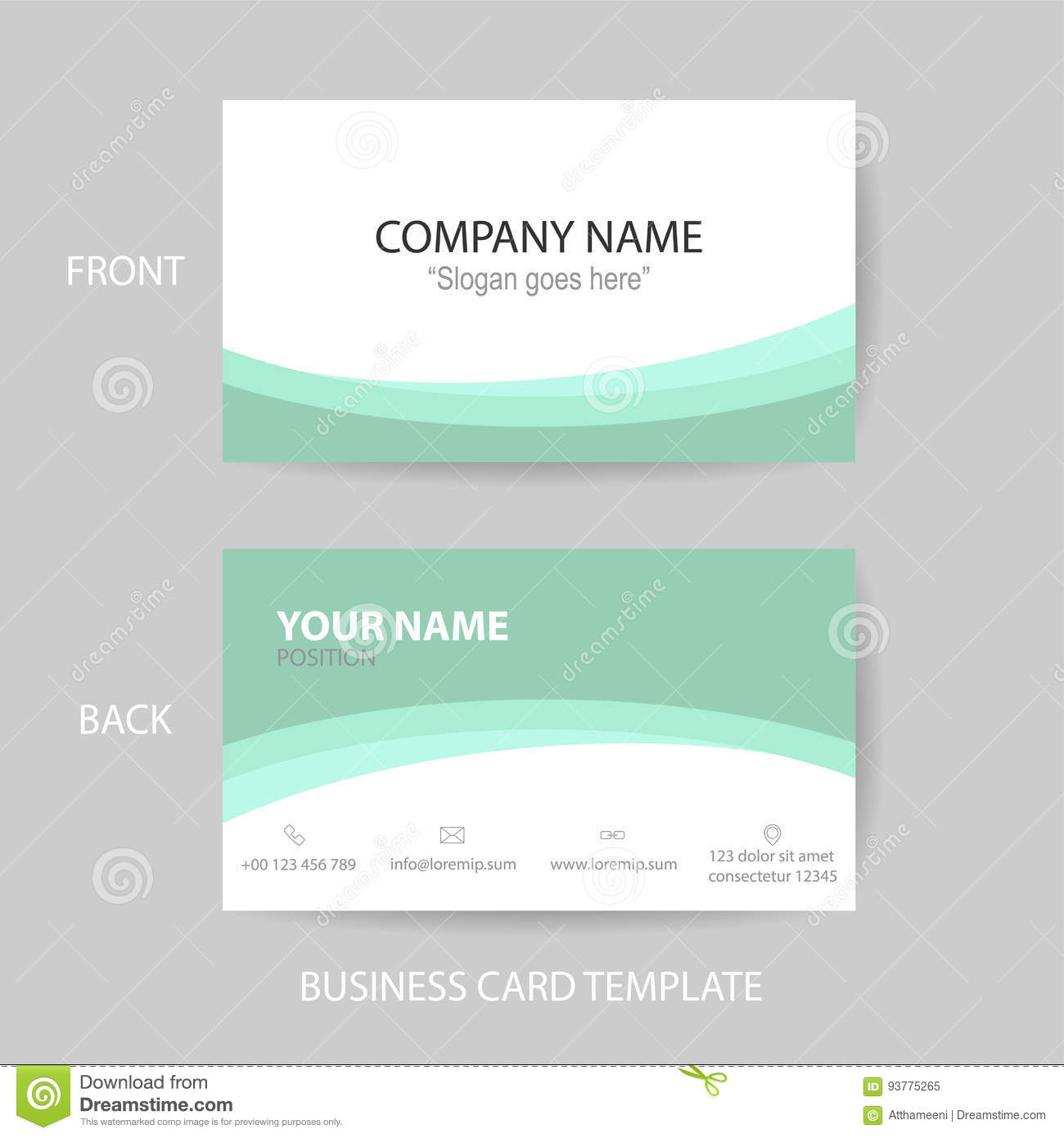 Vector Modern And Clean Business Card Design Template Stock Vector ...