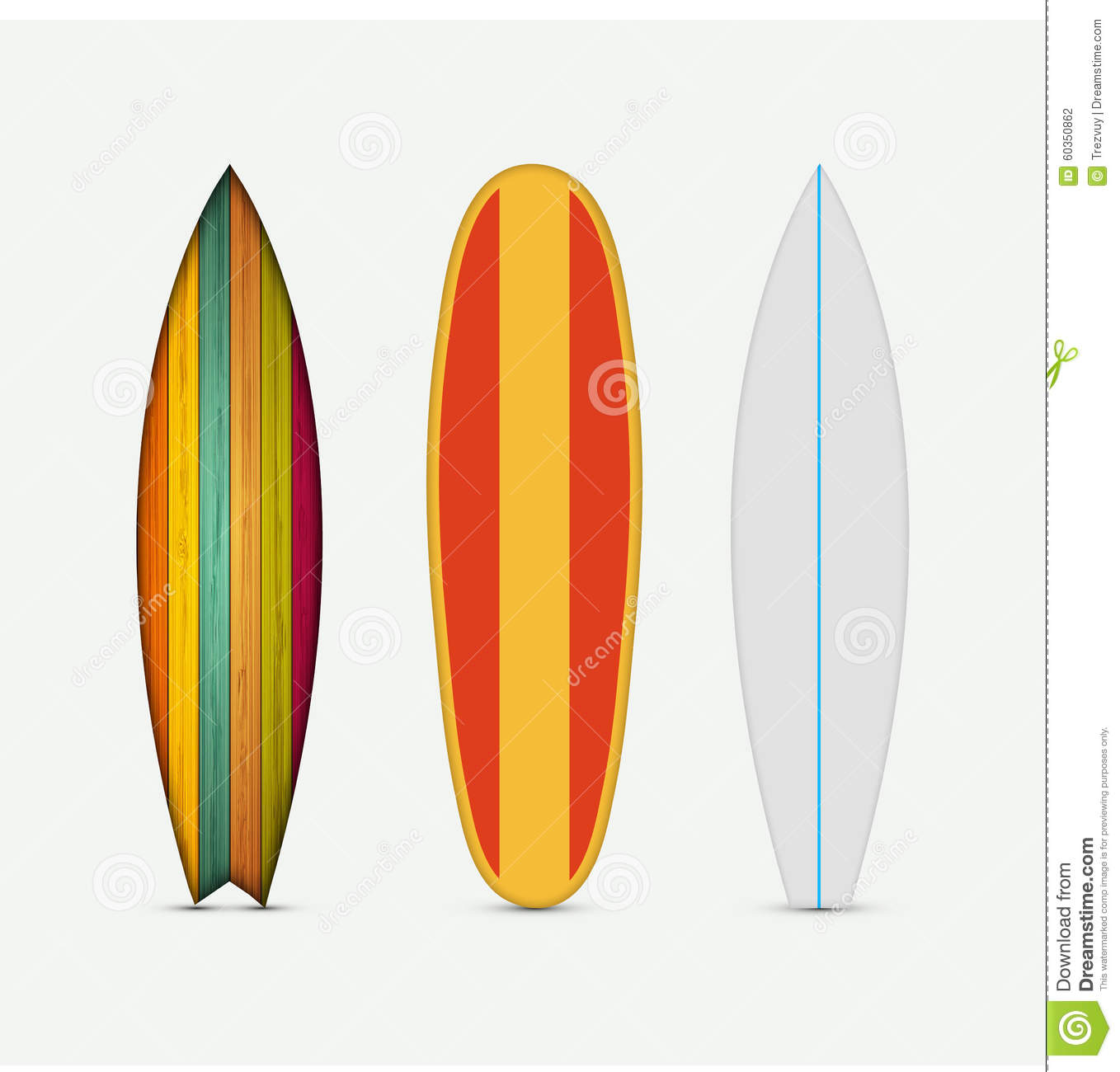 Deco Planche De Surf vector modern colorful surfboard set stock vector