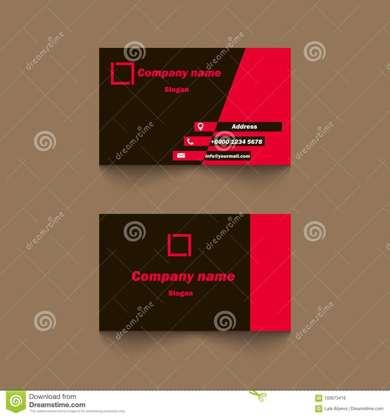 Vector Modern Creative And Clean Business Card Template Stock ...
