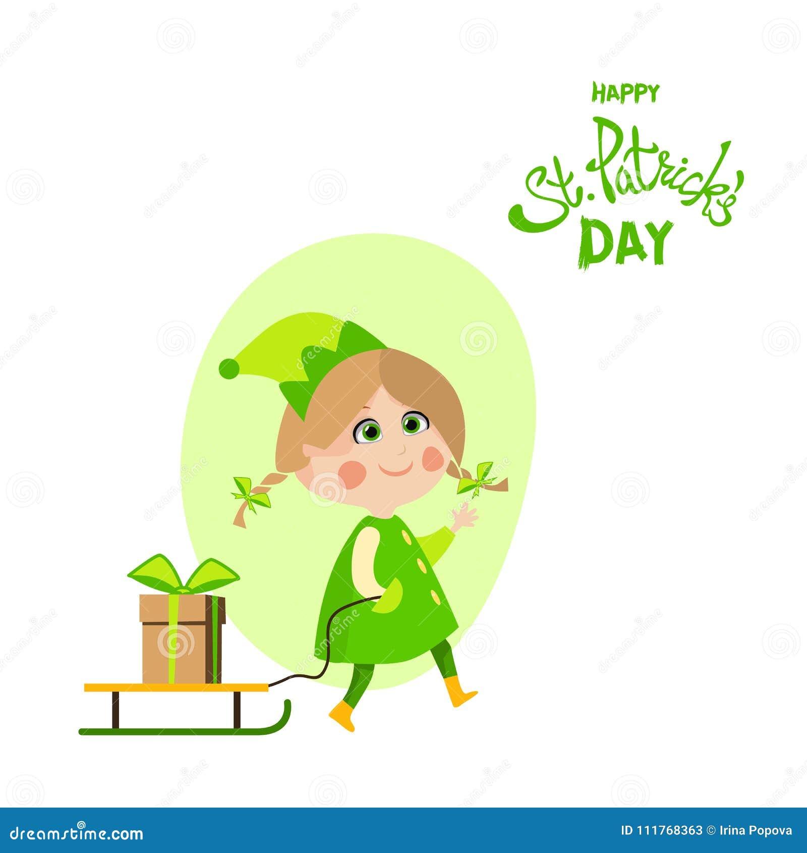 Happy St Patricks Day Greeting Stock Vector Illustration Of
