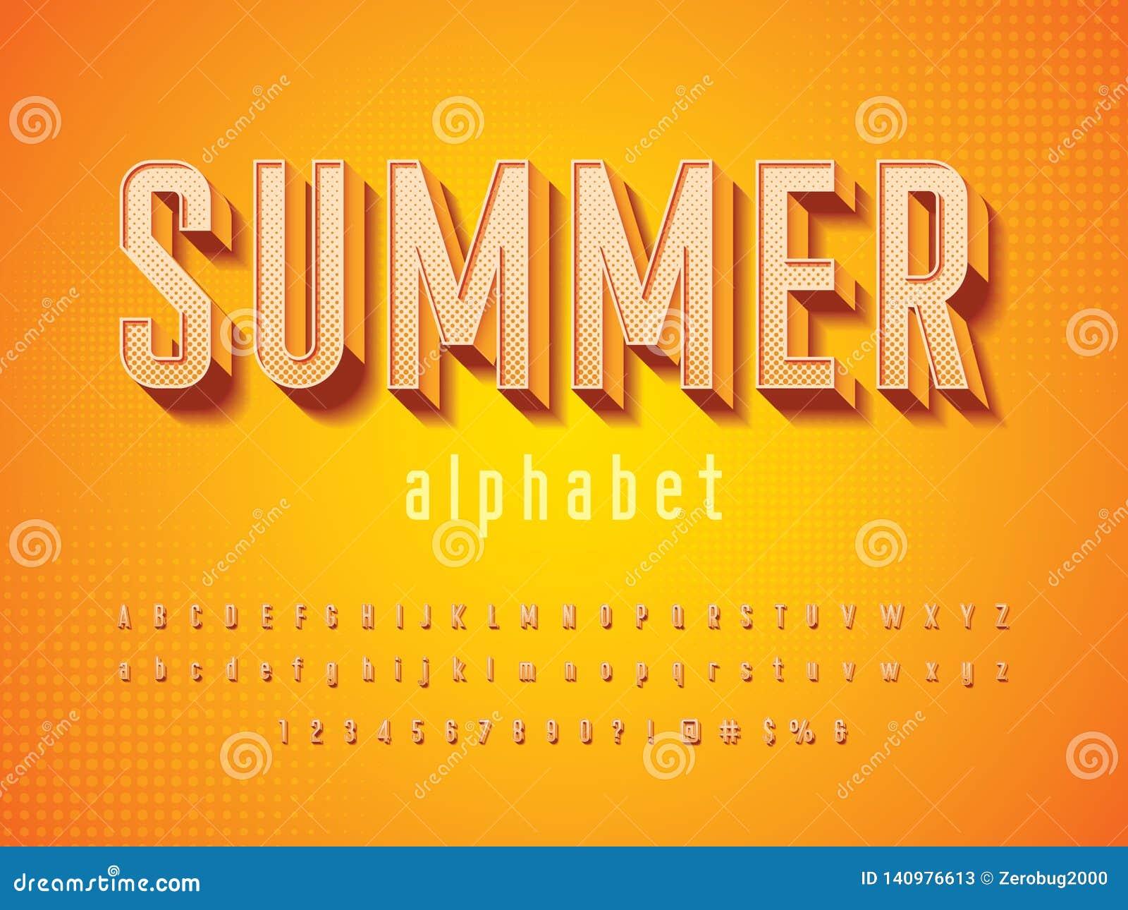 Vector Of Modern 3D Bold Alphabet Design Stock Vector