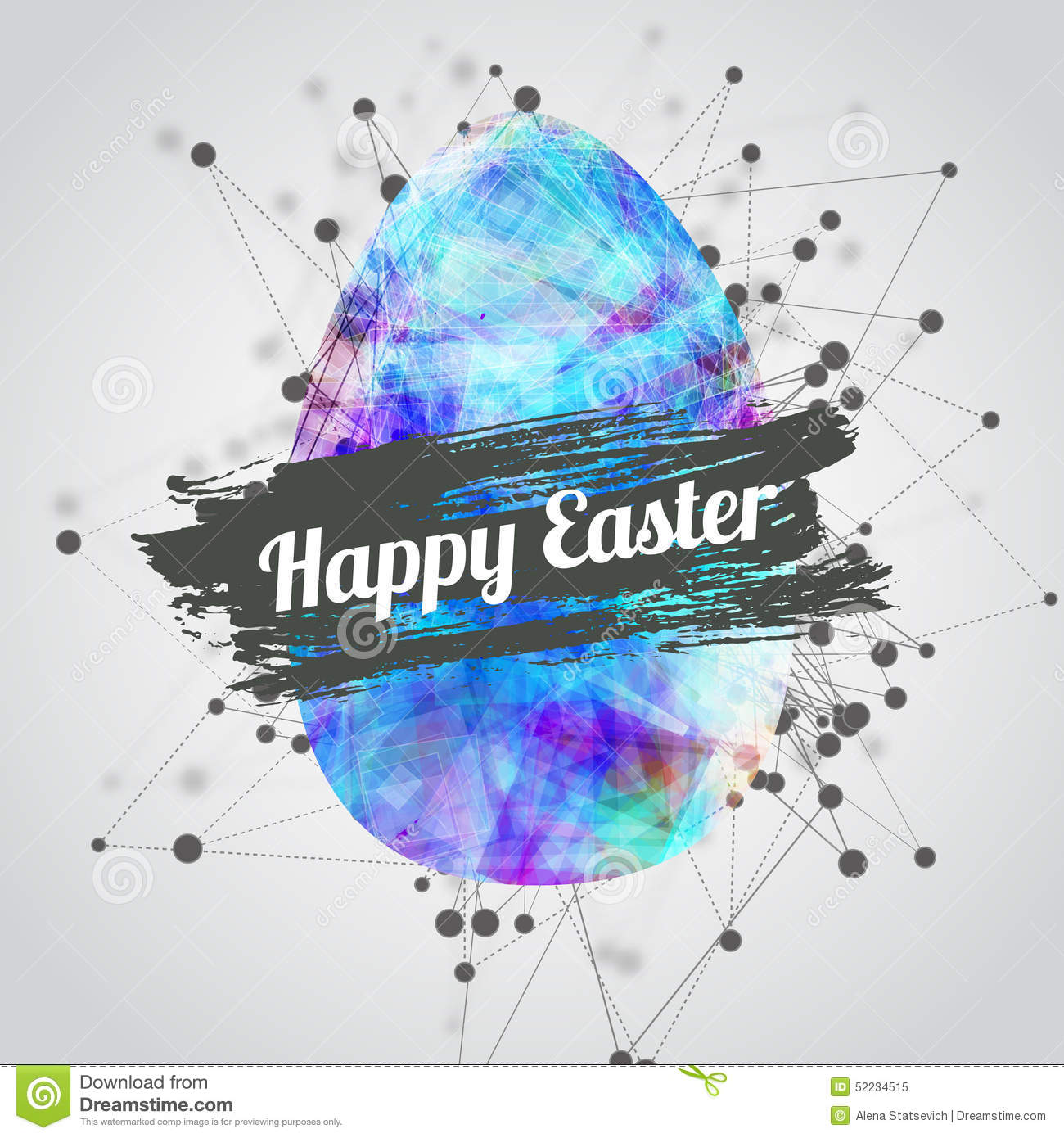 Vector Modern Happy Easter Card Design With Bright Vector – Easter Card Designs