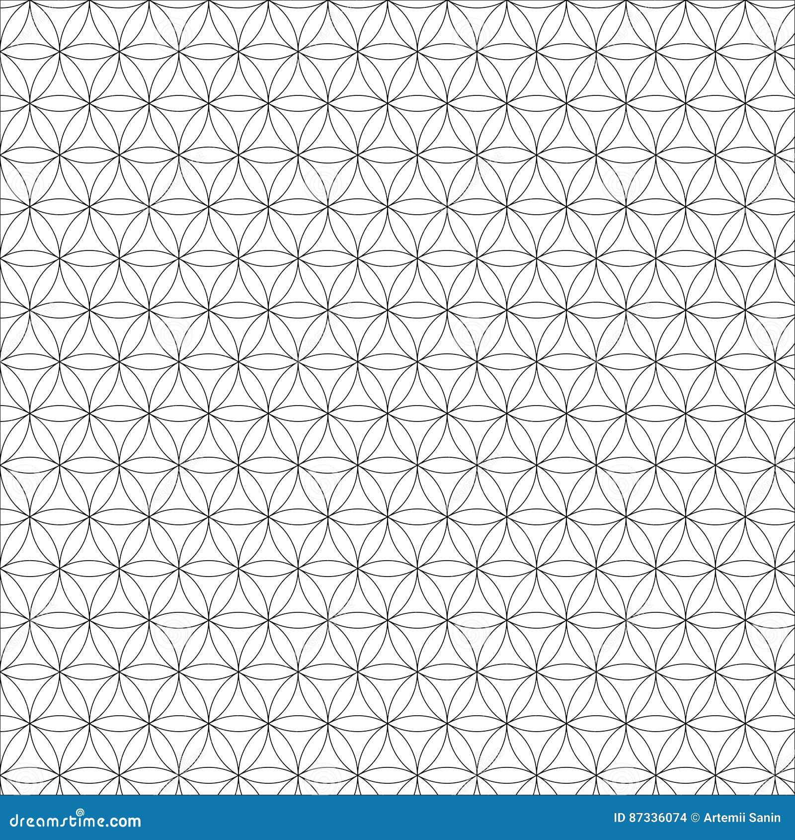 Vector modern heilig meetkunde naadloos patroon, bloem van het leven, ontwerp abstracte textuur