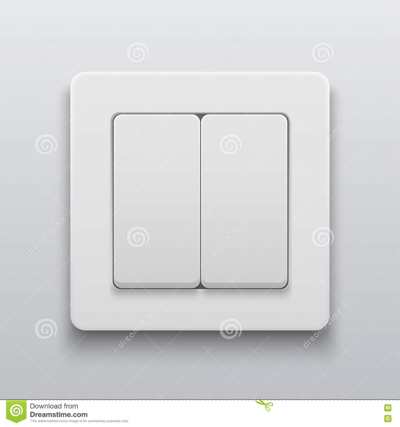 Vector Modern Light Switch Icon Background. Stock Vector ...