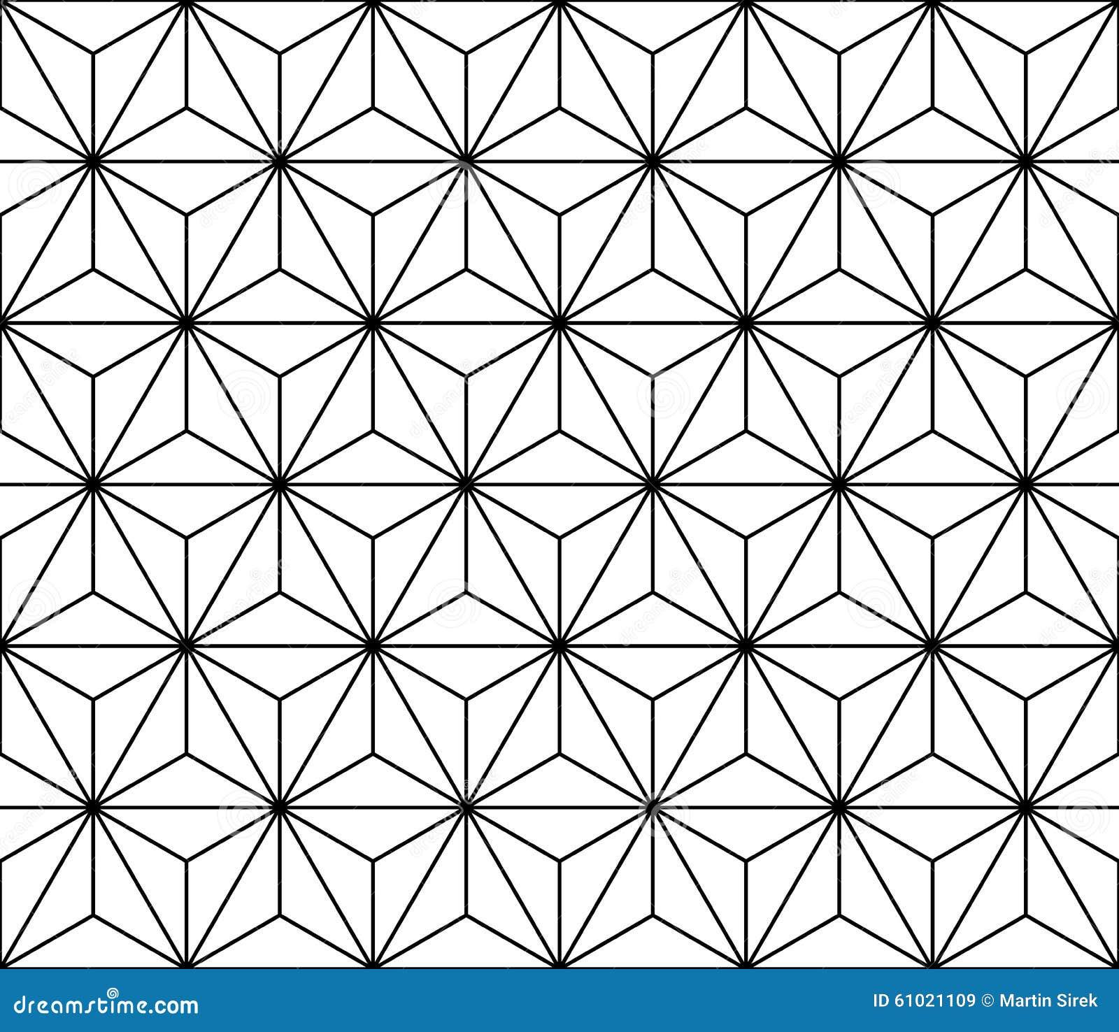 Vector modern naadloos heilig meetkundepatroon, zwart-witte samenvatting