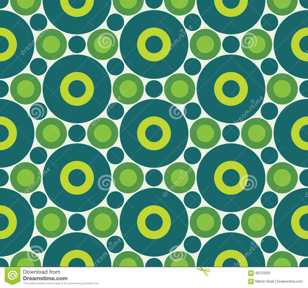 Vector Modern Seamless Colorful Geometry Circle Pattern