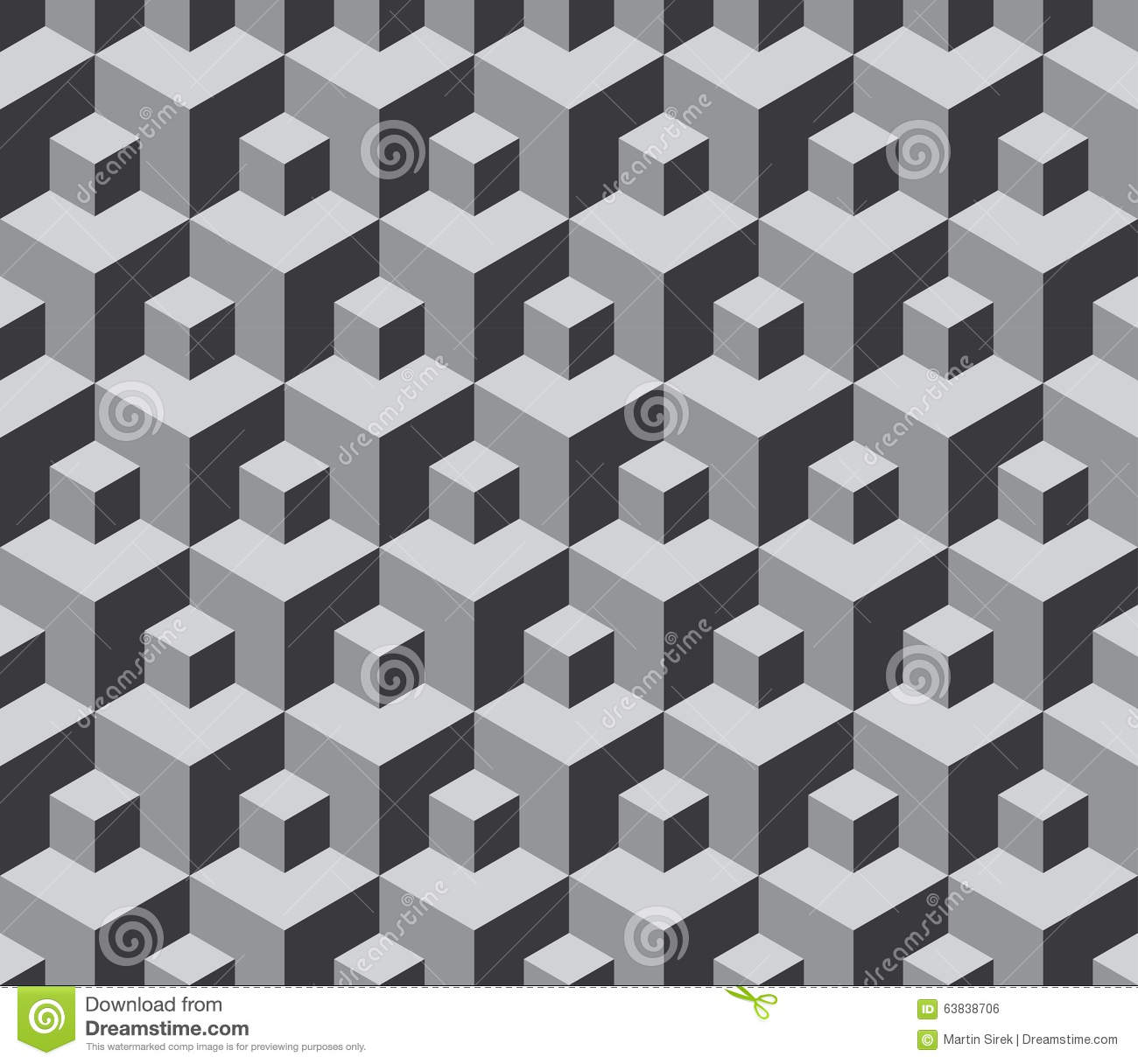 Abstract Geometric Hexagon Cube Seamless Patterns Background stock ...
