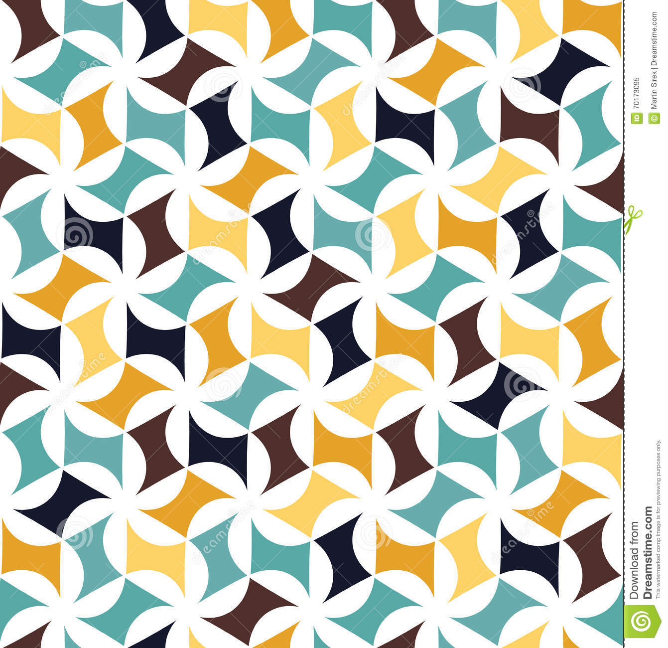 Vector Modern Seamless Colorful Geometry Pattern Floral