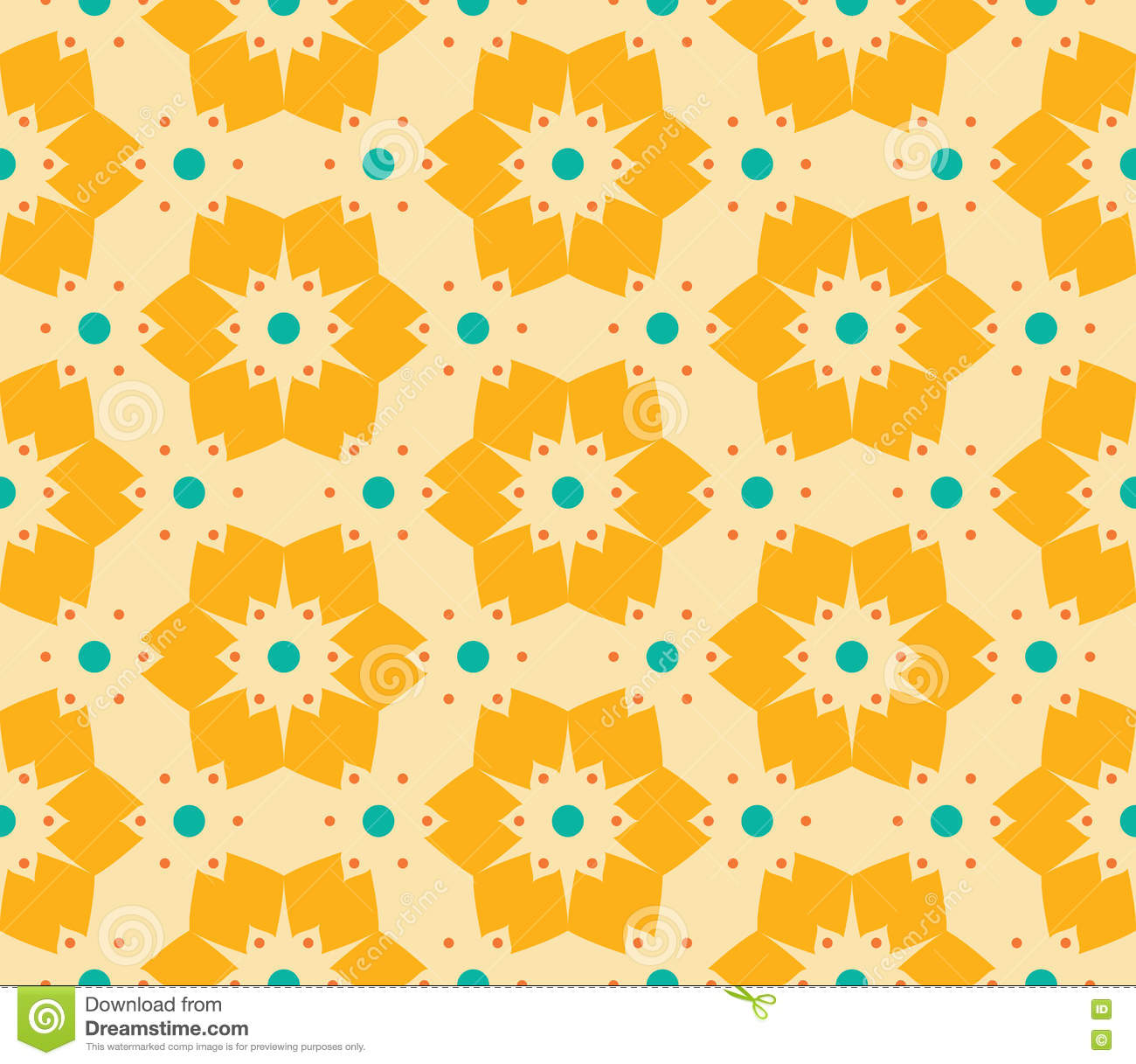 Seamless Vector Abstract Geometric Pattern Of A Vector