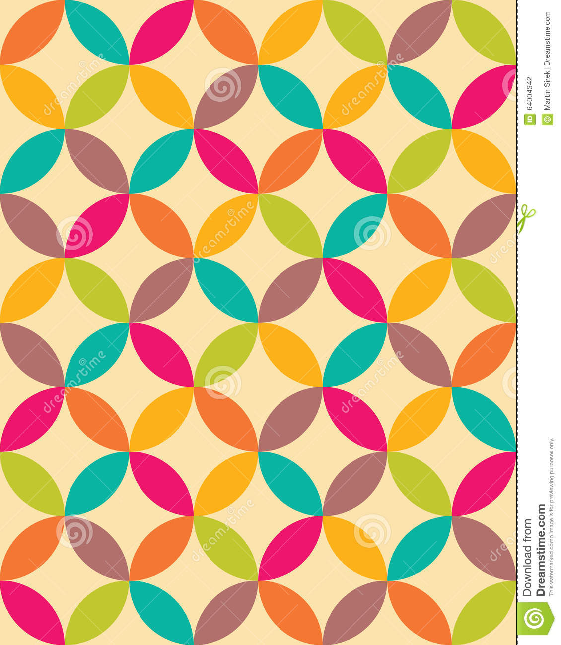 Vector Modern Seamless Colorful Geometry Overlapping