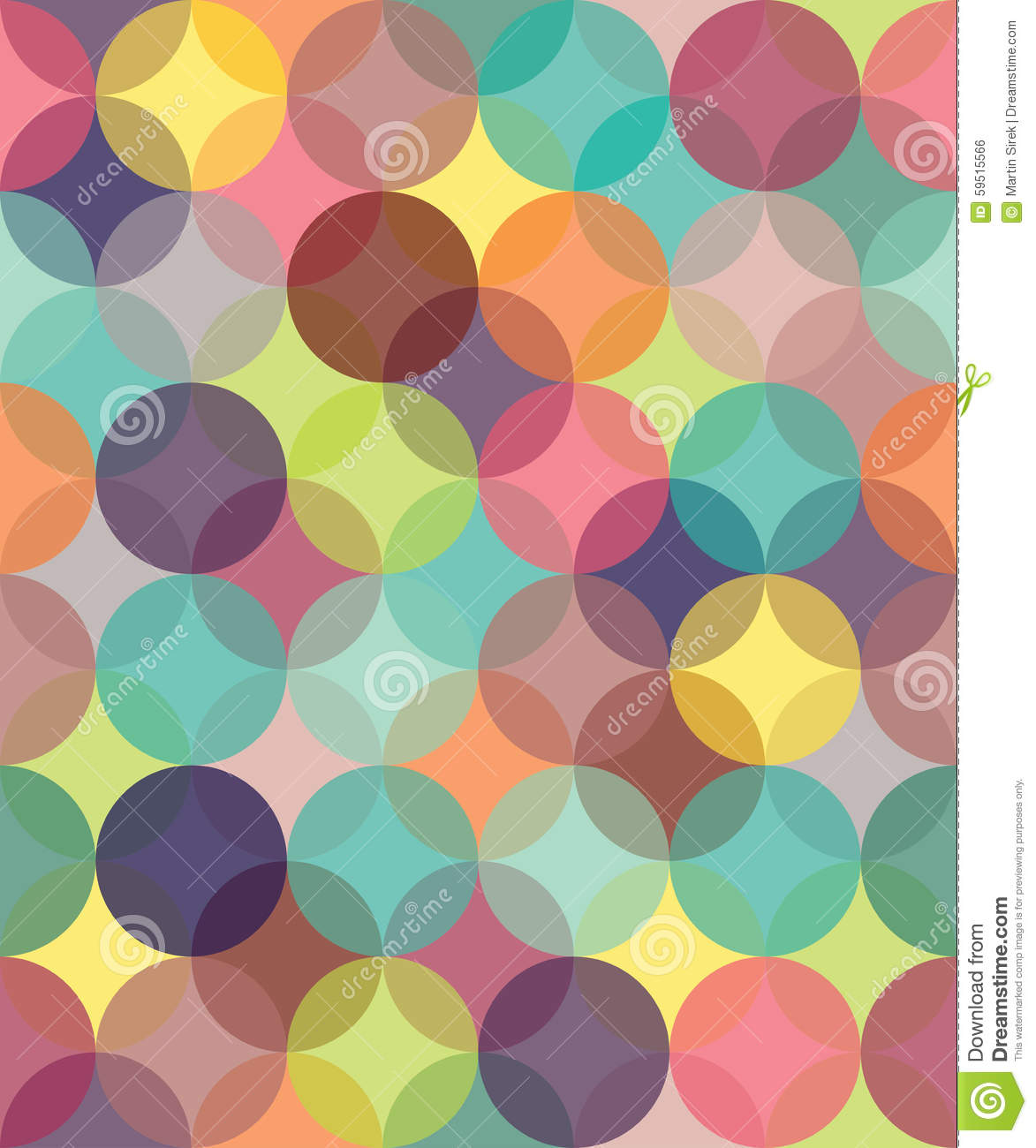 Vector Modern Seamless Colorful Geometry Pattern Circles