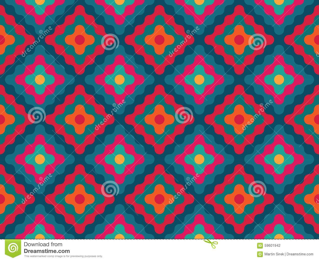 Vector Modern Seamless Colorful Geometry Pattern Diamonds