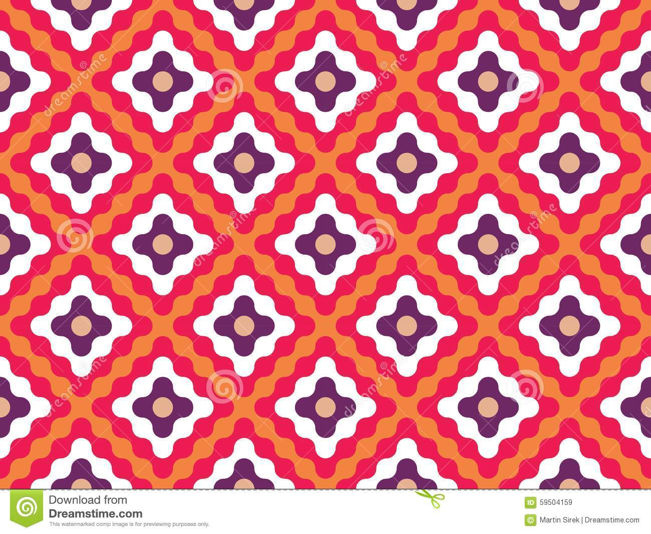 Vector Modern Seamless Colorful Geometry Pattern Flowers ...