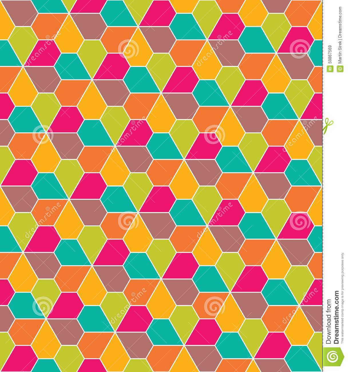 Pentagon Pattern Geometric Polygonal Posters A4 Colorfull