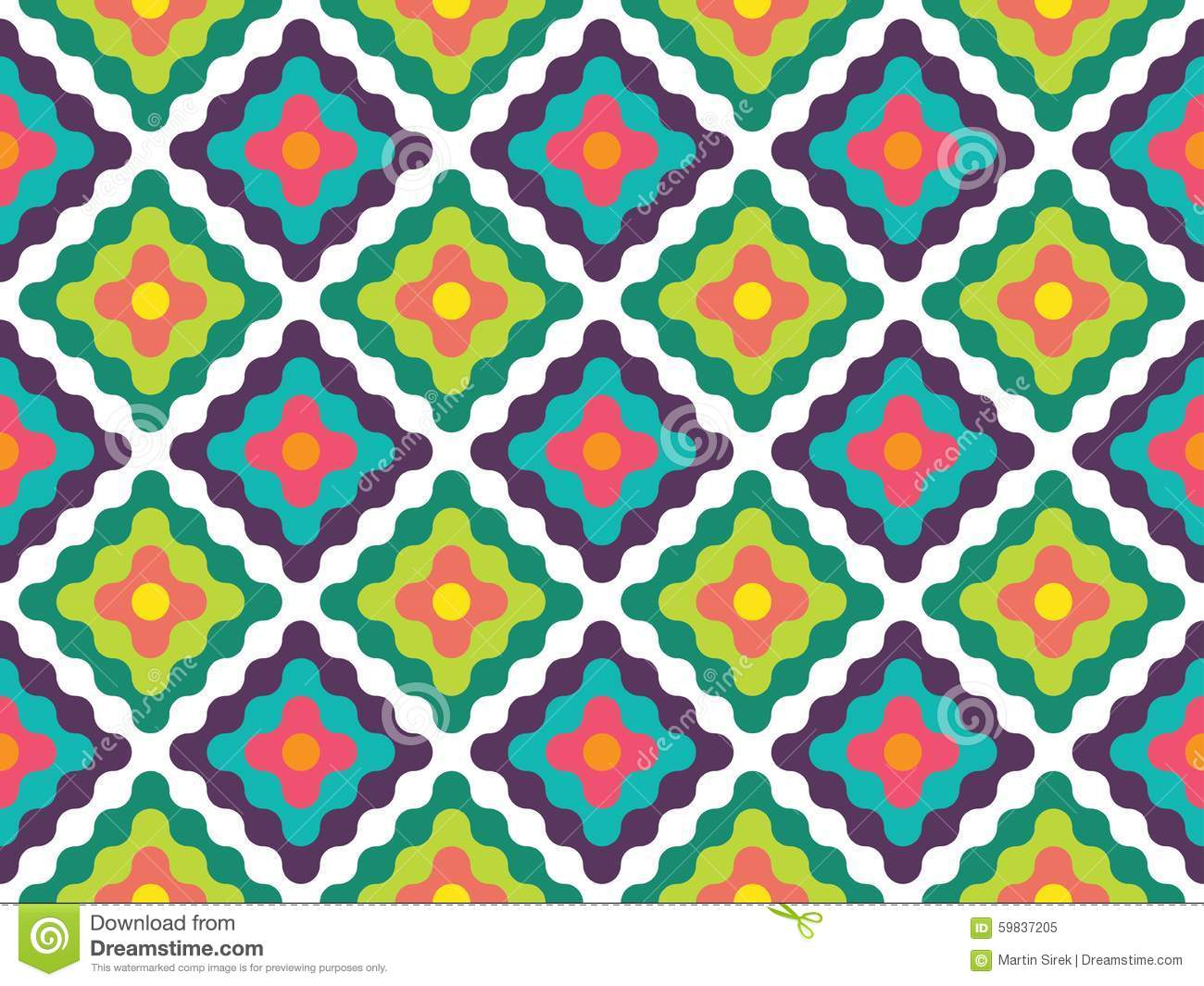 Vector Modern Seamless Colorful Geometry Pattern Fresh