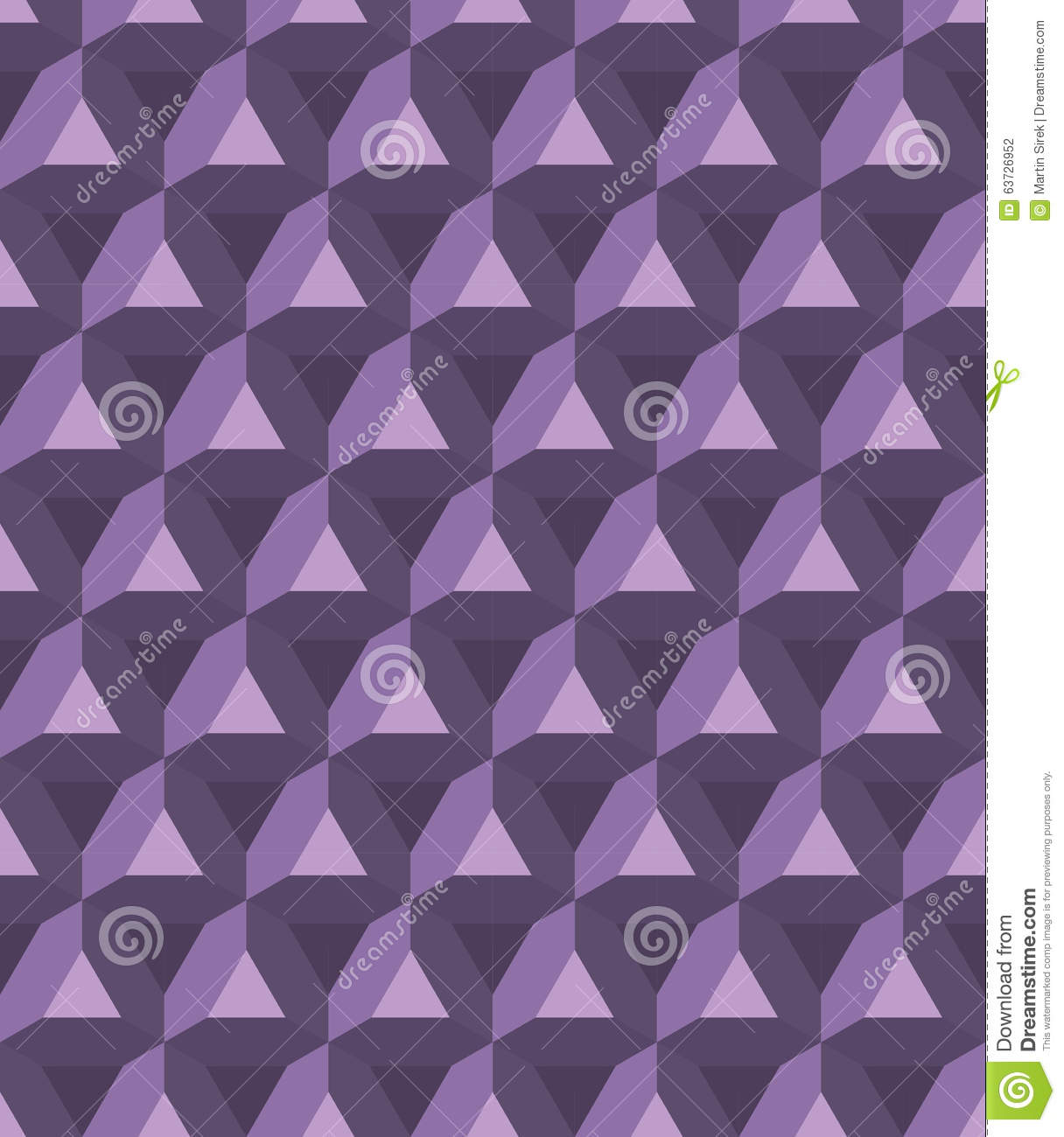 Vector Modern Seamless Colorful Geometry Prism Pattern