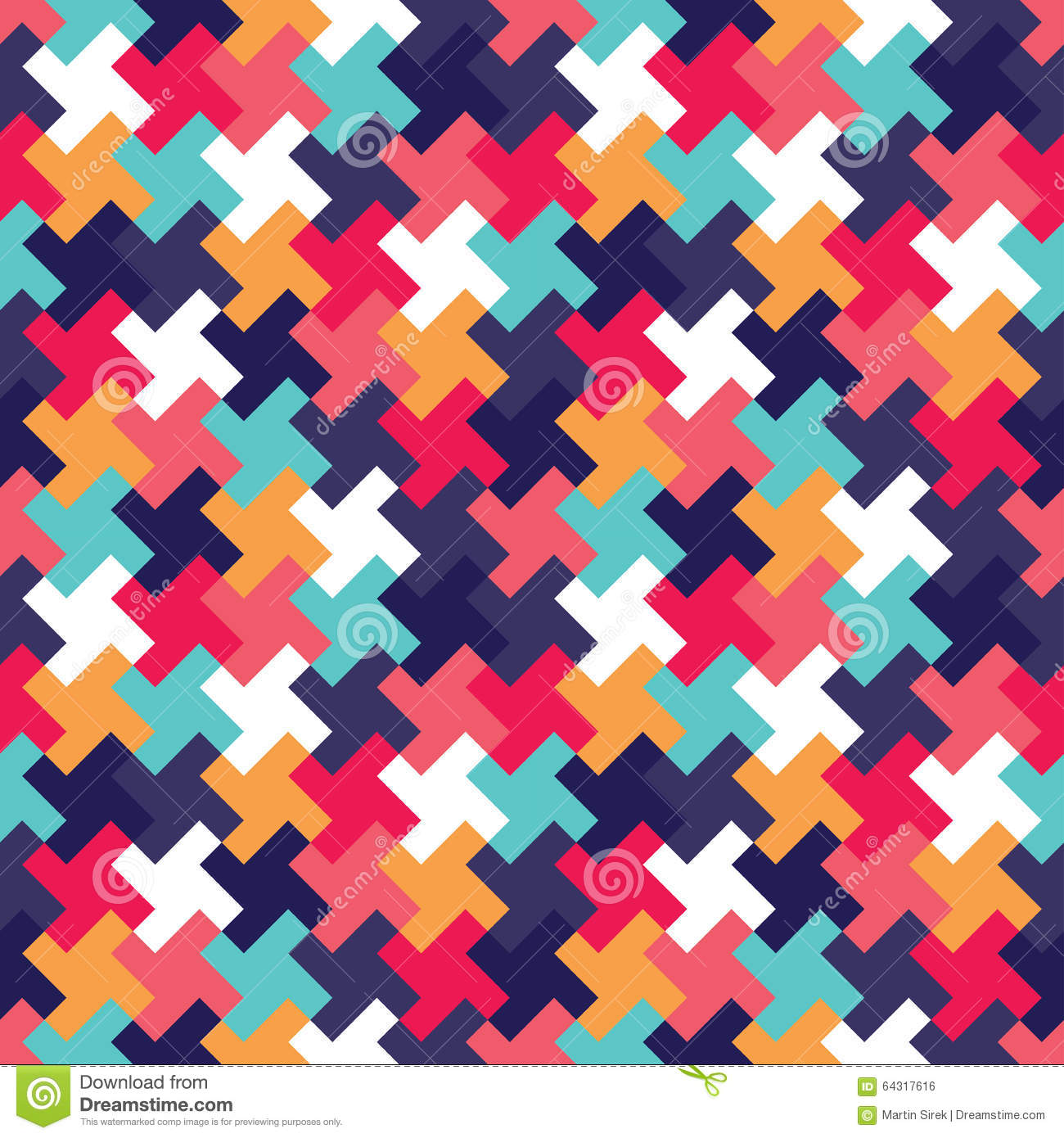 Colorful Puzzle Seamless Background Pattern Cartoon Vector