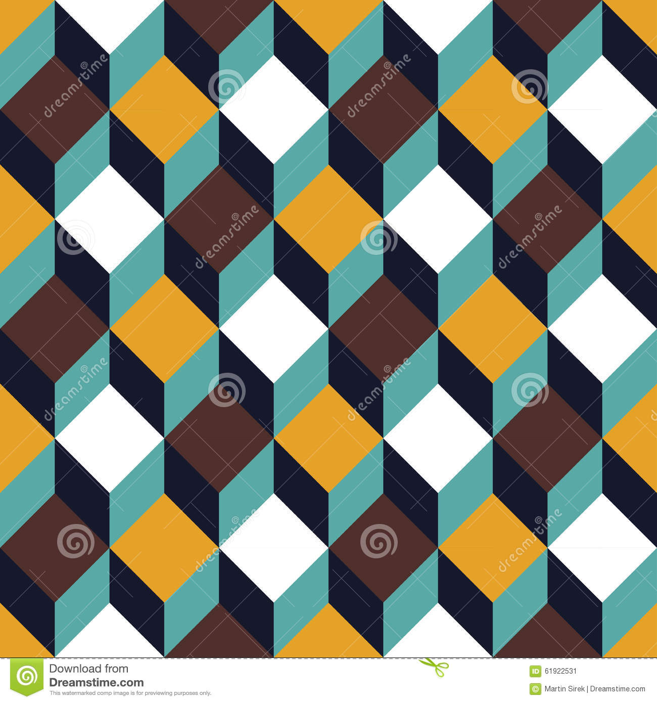 Vector Modern Seamless Colorful Geometry Square Pattern