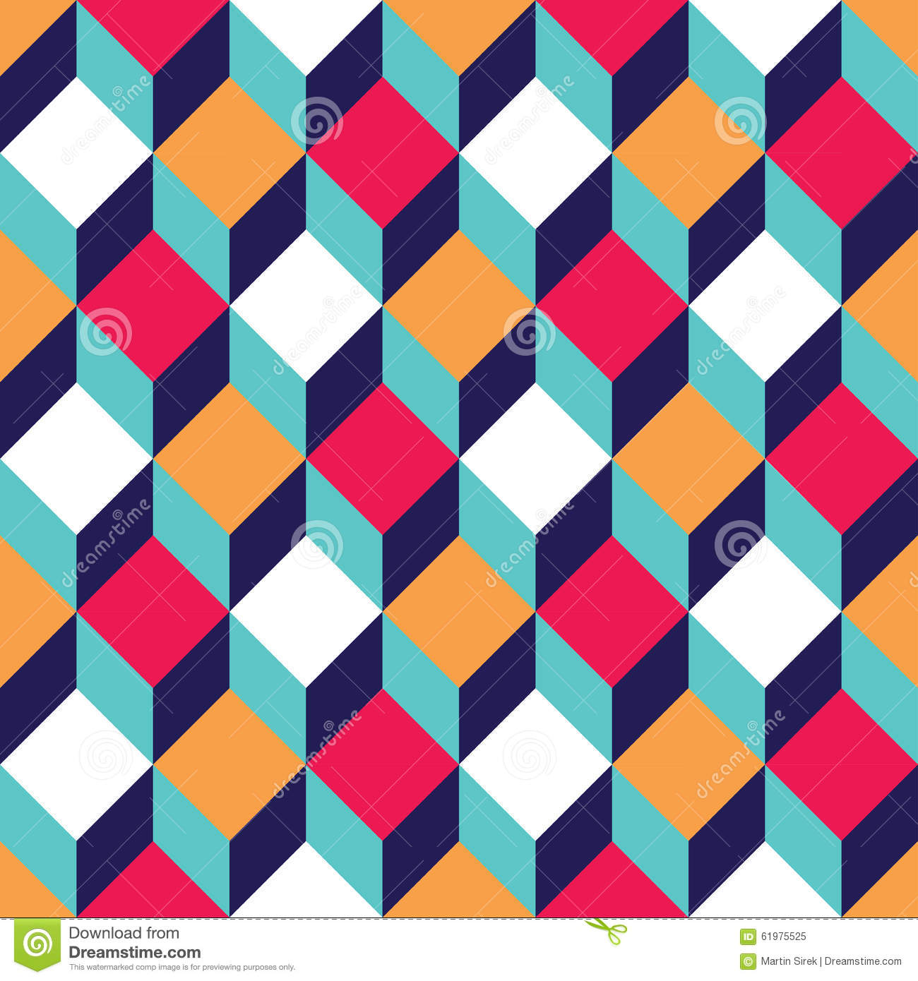 Colorful Abstract Square Pattern Background Vector