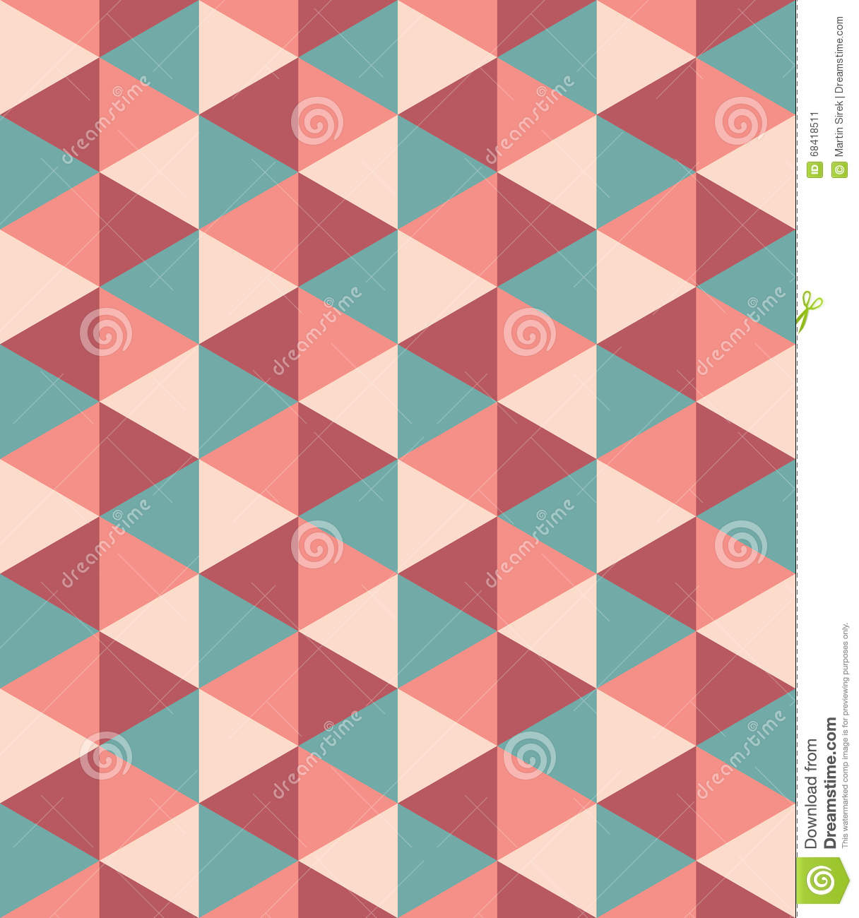 Vector Modern Seamless Colorful Geometry Triangle Pattern