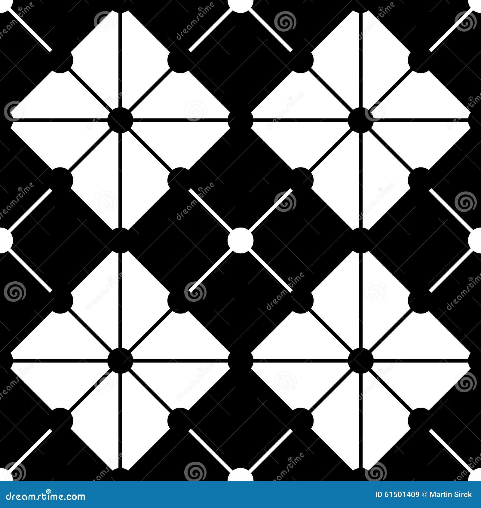 Vector modern seamless geometry pattern cross tiles black for Modern patterns black and white