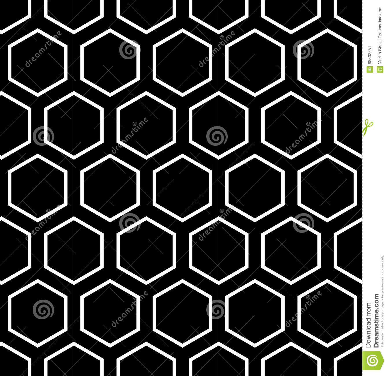 Vector Modern Seamless Geometry Pattern Hexagon, Black And ...