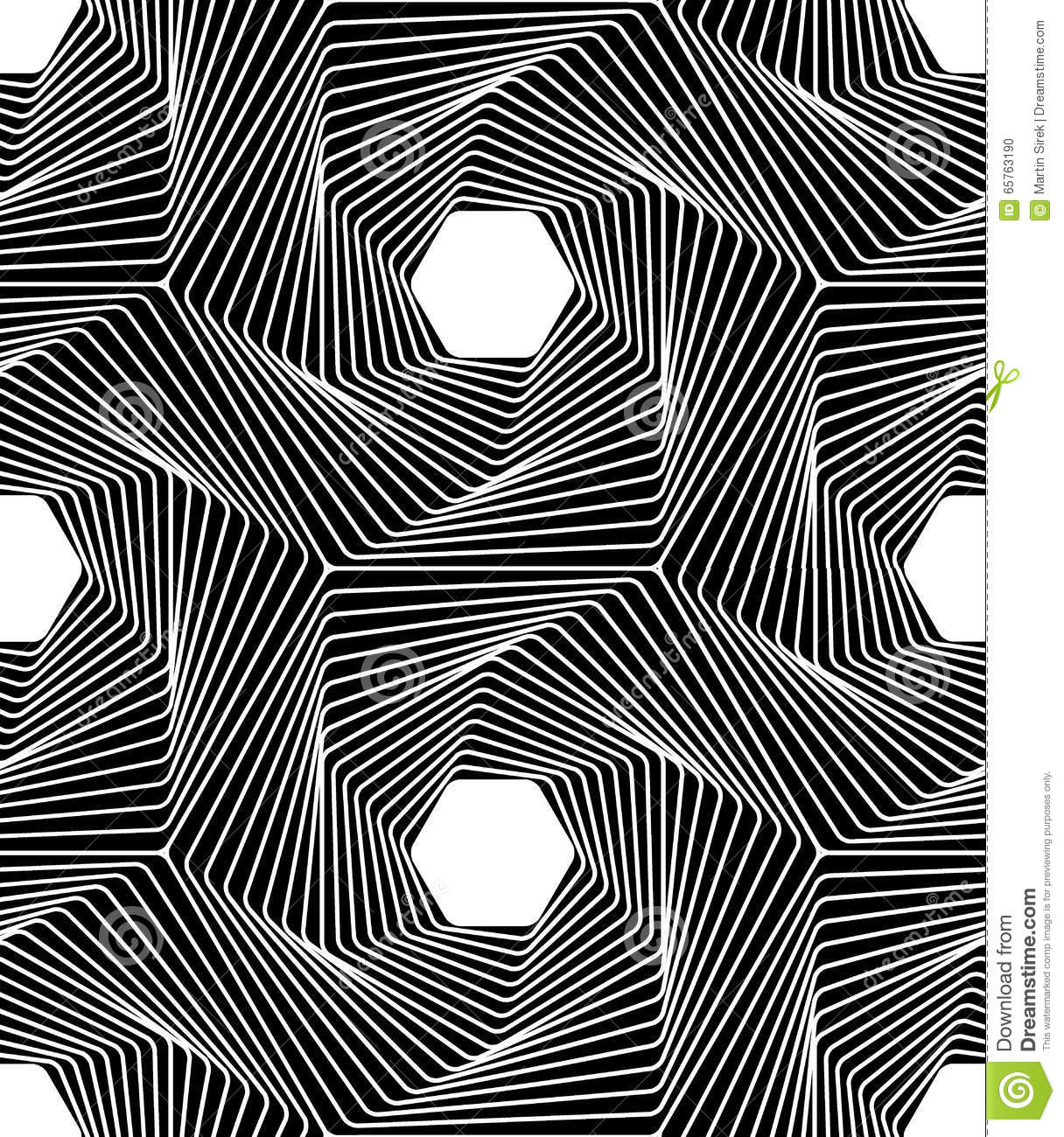 Vector modern seamless geometry pattern line art black and white abstract