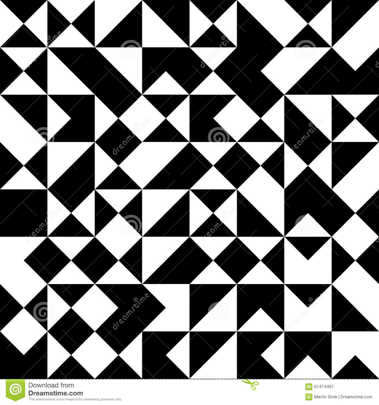 Vector Modern Seamless Geometry Pattern Black And White