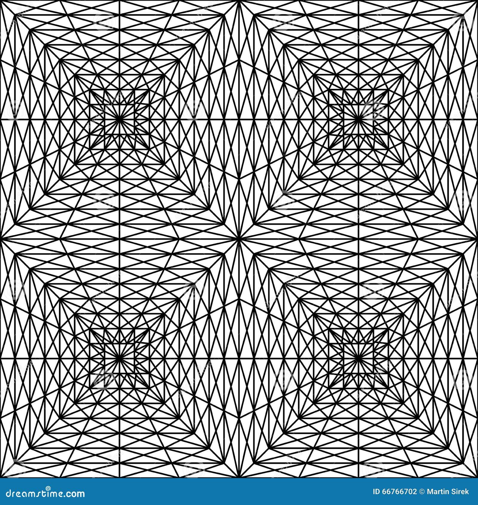 Vector Modern Seamless Geometry Pattern Squares 3d Black