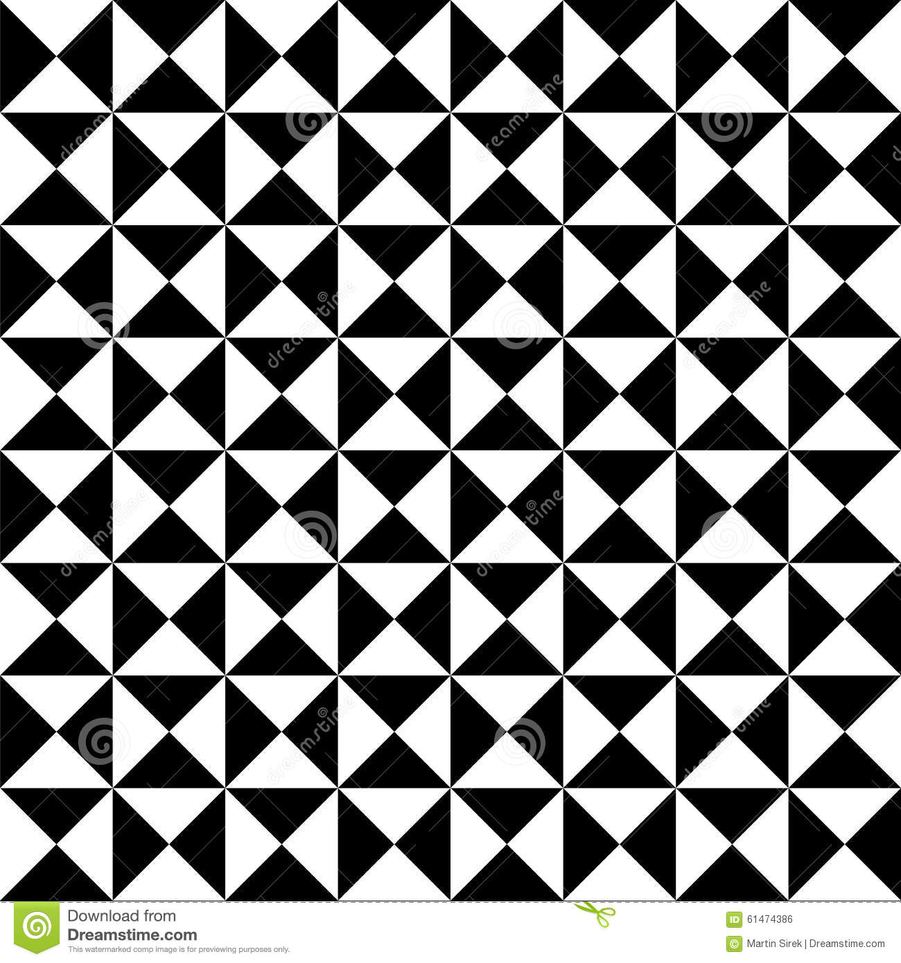 Black and white tiles seamless pattern cartoon vector for Black and white modern