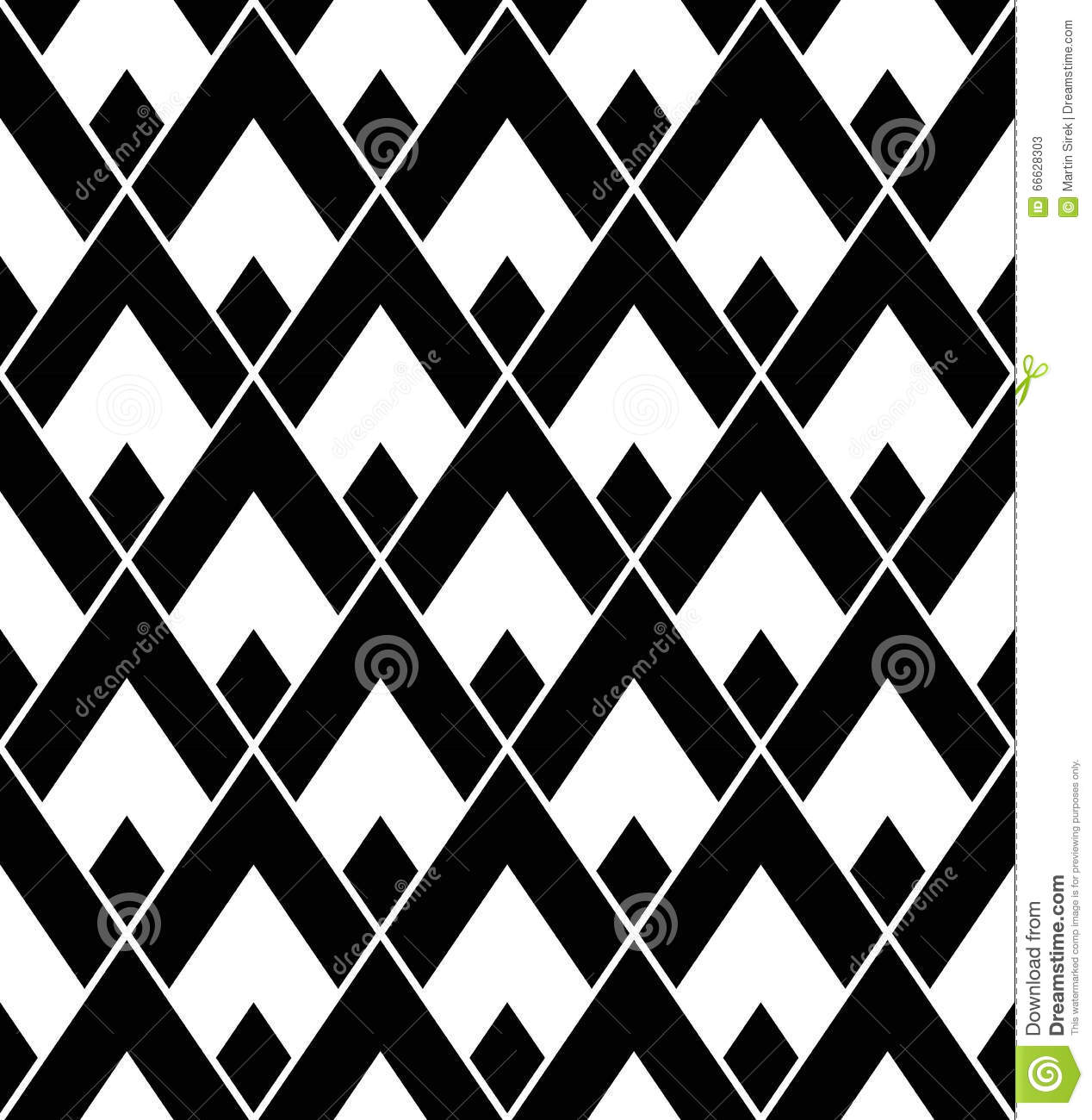 Vector modern seamless geometry pattern triangle black for Black and white modern