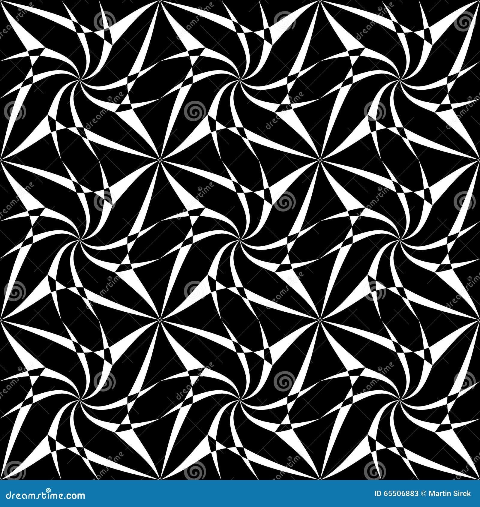 Vector modern seamless geometry pattern spiral black and for Modern patterns black and white