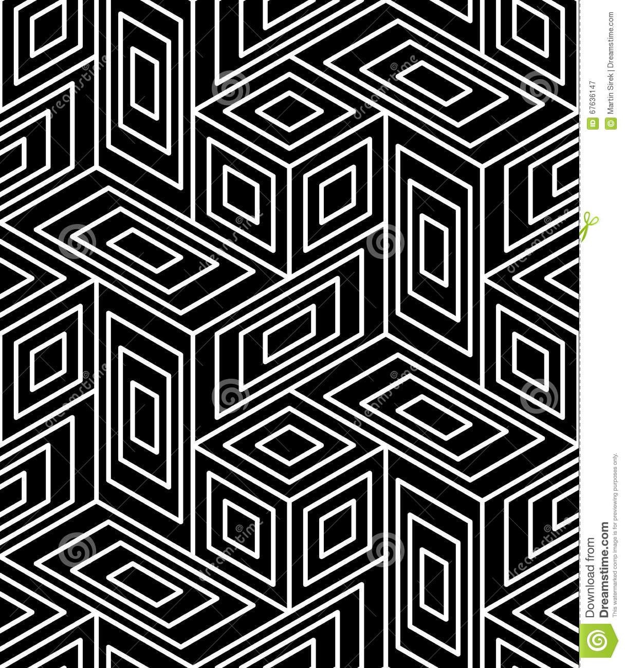 abstract lines seamless pattern optic illusion vector illustration 76694242. Black Bedroom Furniture Sets. Home Design Ideas