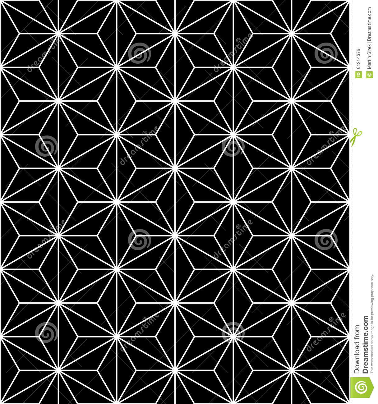 Vector modern seamless sacred geometry pattern, black and white abstract