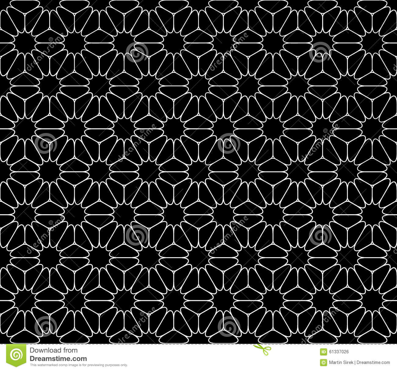 Vector modern seamless sacred geometry pattern floral for Modern patterns black and white