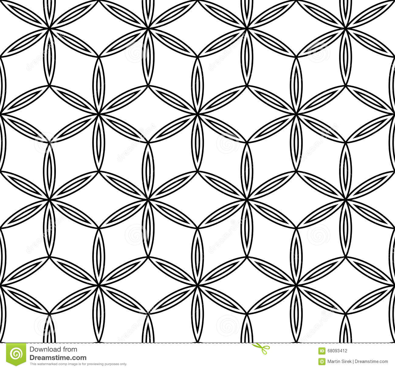 Vector modern seamless geometry pattern flower stock image for Modern patterns black and white