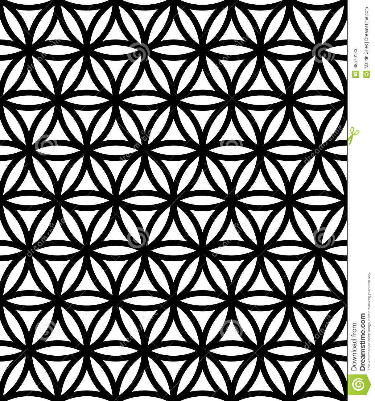 Flower Of Life Pattern Vector