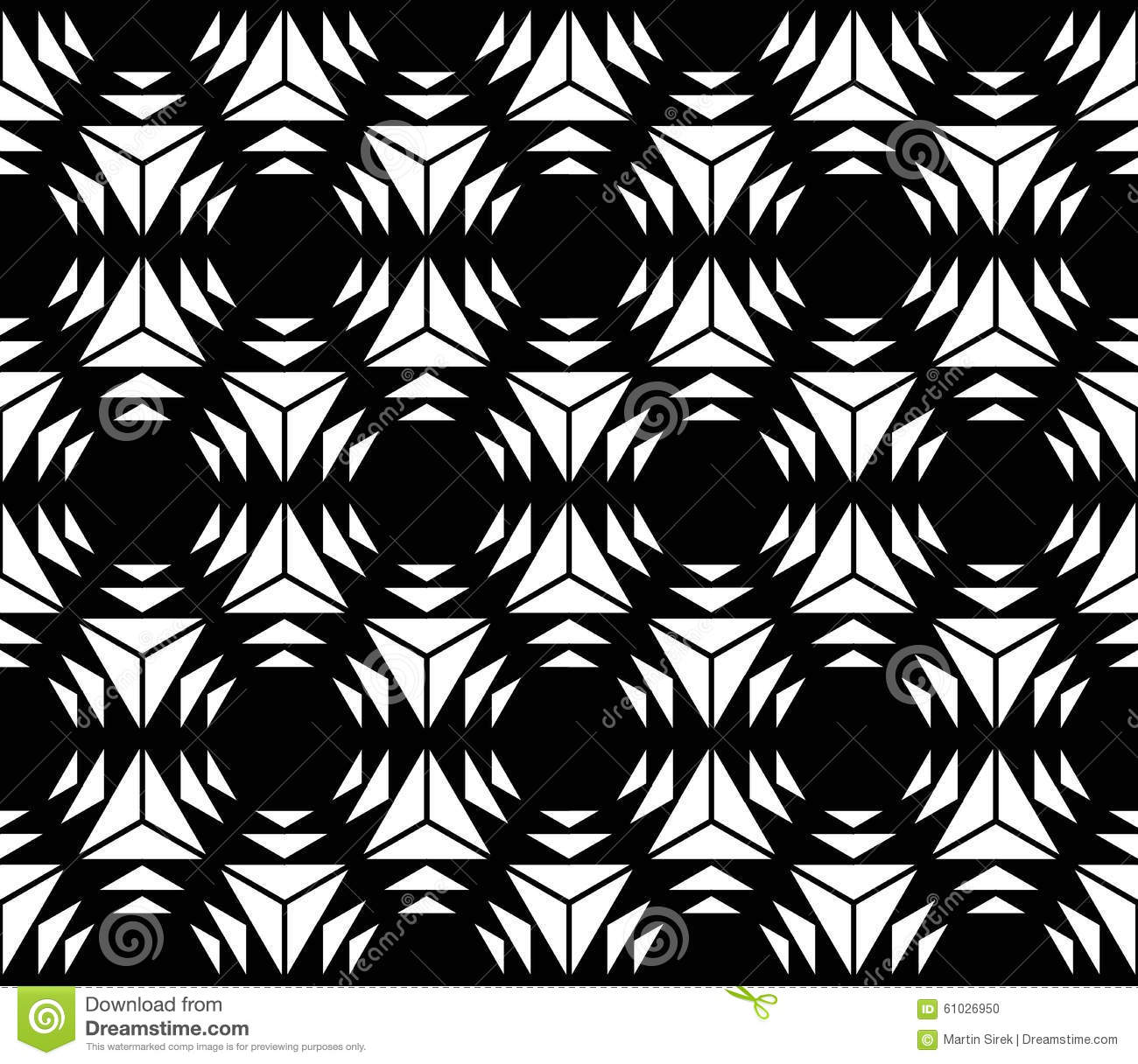 Vector modern seamless sacred geometry pattern hexagon for Modern patterns black and white