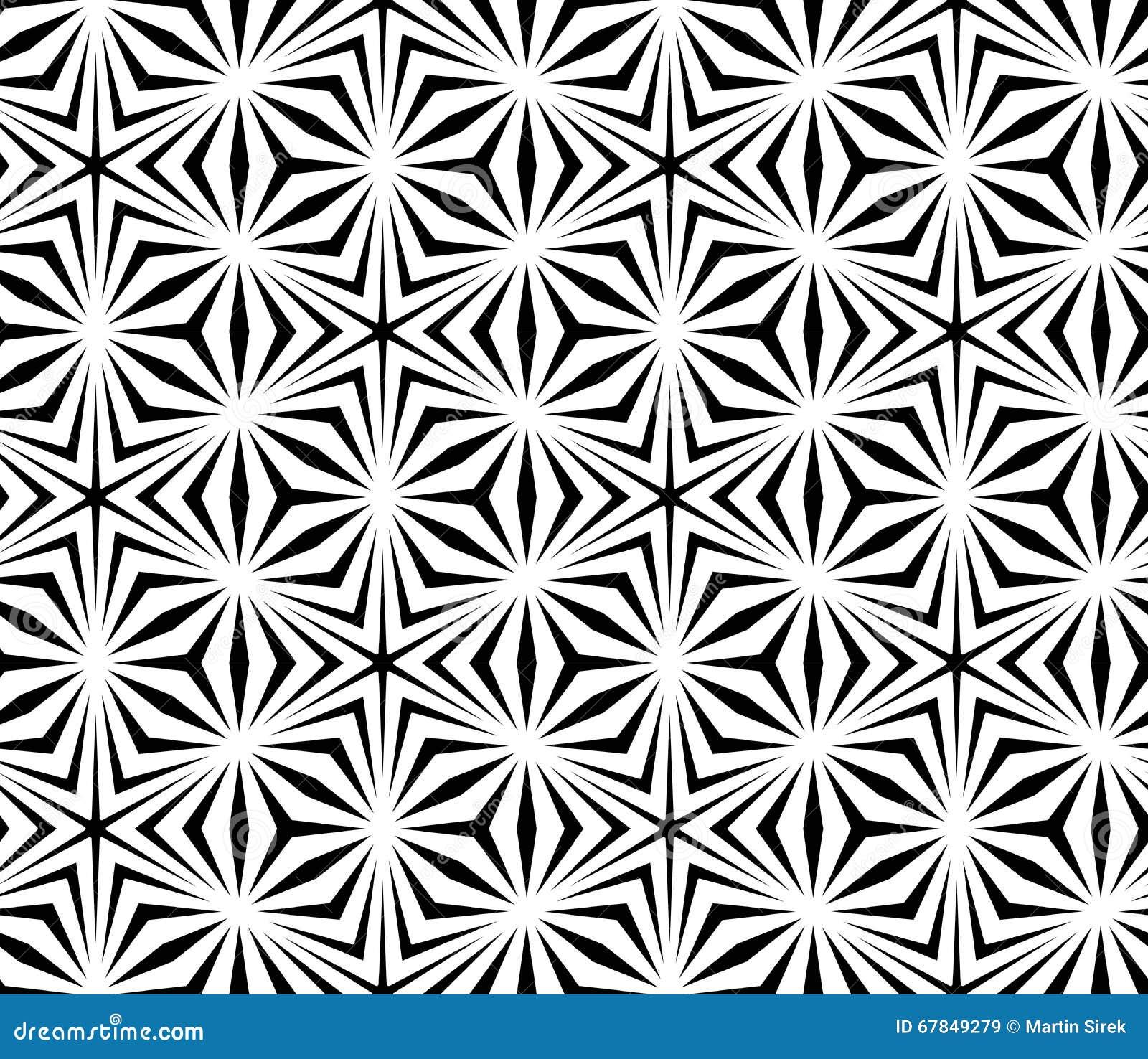 Vector Modern Seamless Sacred Geometry Pattern Trippy